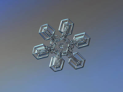 Photograph - Snowflake Photo - High Voltage by Alexey Kljatov