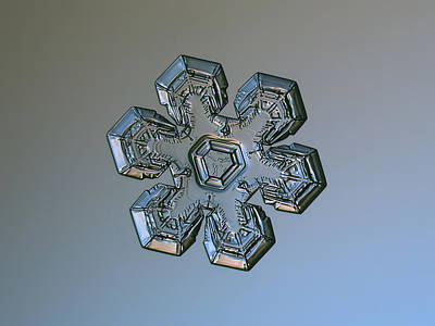 Photograph - Snowflake Photo - Massive Silver by Alexey Kljatov