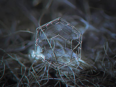 Photograph - Snowflake Photo - Molten Glass by Alexey Kljatov