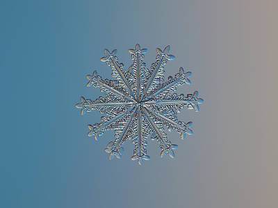 Color Photograph - Snowflake Photo - Wheel Of Time by Alexey Kljatov
