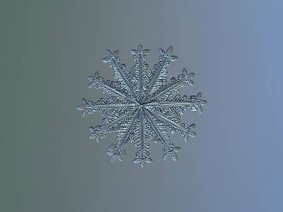 Photograph - Snowflake Photo - Wheel Of Time II by Alexey Kljatov
