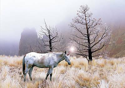 Unicorn Photograph - A Unicorn Named Snowflake by Buddy Mays