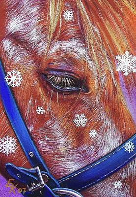 Drawing - Snowflakes by Elena Kolotusha