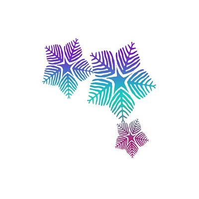 Digital Art - Snowflakes by L L