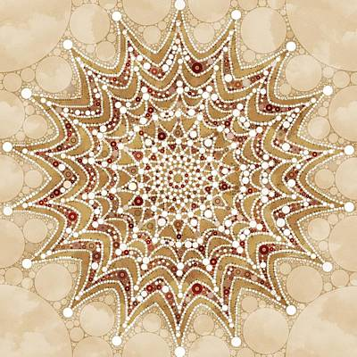Mixed Media - Snowflakes Mandala Design by Gabriella Weninger - David