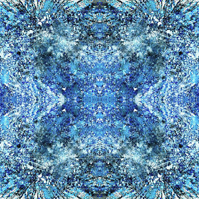 Fractal Geometry Mixed Media - Snowflakes Of The Divine #1416 by Rainbow Artist Orlando L aka Kevin Orlando Lau