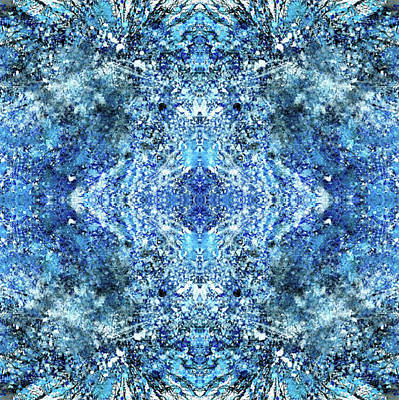 Fractal Geometry Mixed Media - Snowflakes Of The Divine #1417 by Rainbow Artist Orlando L aka Kevin Orlando Lau