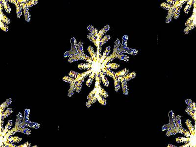 Photograph - Snowflakes by Tim Allen
