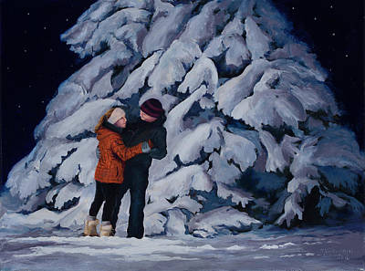 Painting - Snowfoot Waltz by Mary Giacomini