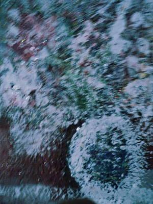Snowglobe Gone Wild Blue Art Print by Anne-Elizabeth Whiteway