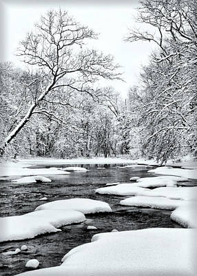 Photograph - Snowing Along The Creek by Carolyn Derstine