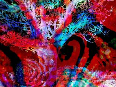 Digital Art - Snowing Baobab by Fania Simon