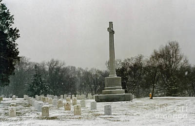 Photograph - Snowing In Arlington by D Hackett