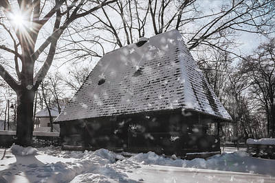 Photograph - Snowing On A Wonderful Winter Day At The Village Museum In Bucharest by Daniela Constantinescu