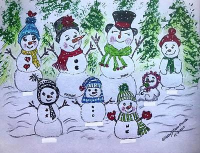 Painting - Snowman Christmas by Kathy Marrs Chandler