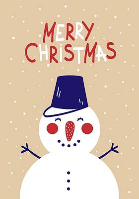 Digital Art - Snowman by Christopher Meade
