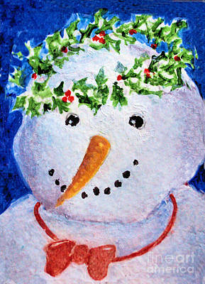 Painting - Snowman  by Diane Ursin