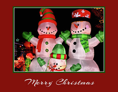 Photograph - Snowman Family by Kathy K McClellan