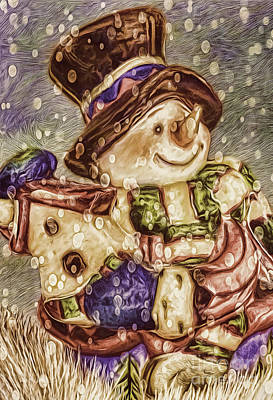 Photograph - Snowman Friends by Jean OKeeffe Macro Abundance Art