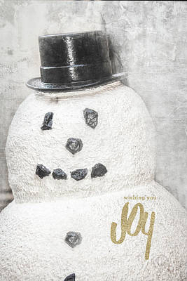 Photograph - Snowman Joy by Pamela Williams