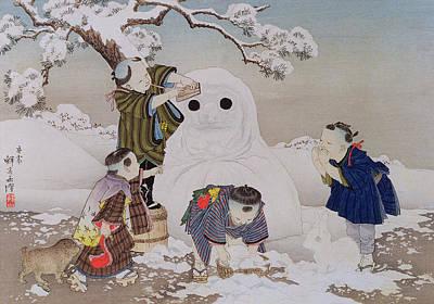 Snowman Print by Kobayashi Eitaku