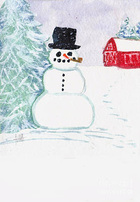 Painting - Snowman  by Maura Satchell