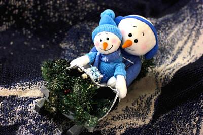 Manger Scene Digital Art - Snowman Run by Morgan Carter