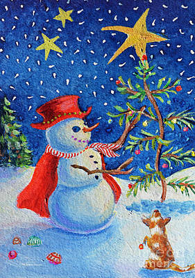 Painting - Snowmas Christmas by Li Newton