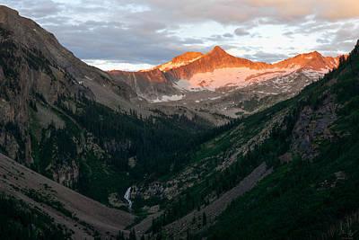 Landscape Er Photograph - Snowmass Mountain Sunrise by Aaron Spong