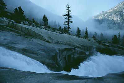 Snowmelt Thunders Down Woods Creek High Art Print