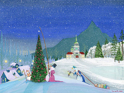 Snowman Painting - Snowmen In Sitka by Thomas Griffin