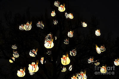 Photograph - Snowmen In The Tree by John Rizzuto