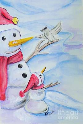 Painting - Snowmen by Lorah Tout