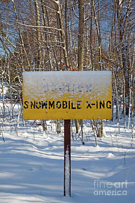 Photograph - Snowmobile Crossing by John Stephens