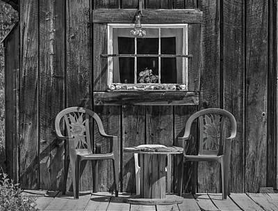 Photograph - Snowshoe Gulch Chairs by Richard J Cassato