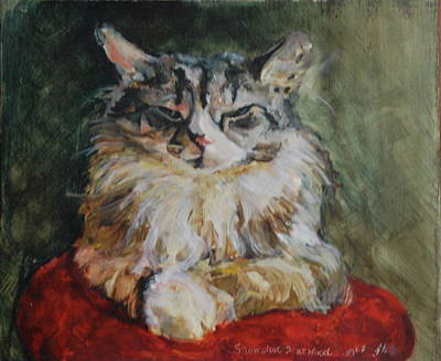 Maine Painting - Snowshoe Harwood by June Harding