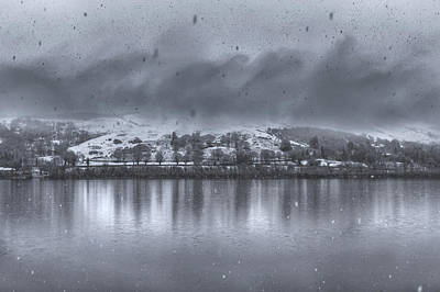 Snowstorm At Bala Lake Art Print by Chris Fletcher
