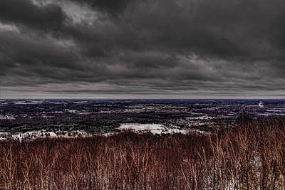Photograph - Snowstorm Clouds Over Rib Mountain State Park by Dale Kauzlaric
