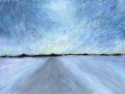 Snowstorm Fading Winter Light Original by Kate Chesters
