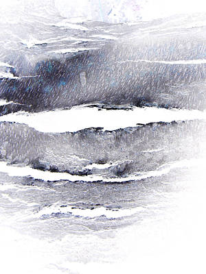 Art Print featuring the photograph Snowstorm In The High Country by Lenore Senior