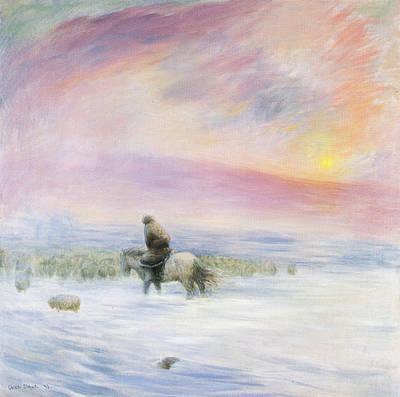 Painting - Snowstorm by Ji-qun Chen