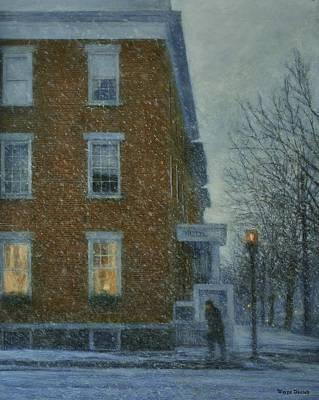 Snowstorm On Albany Street Art Print