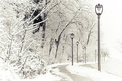 Photograph - Snowstorm On Lincoln Memorial Drive by Joel Witmeyer