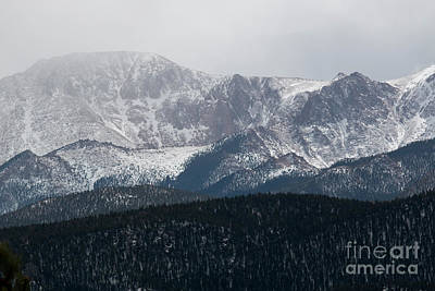 Steve Krull Royalty-Free and Rights-Managed Images - Snowstorm on Pikes Peak by Steve Krull