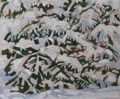 Painting - Snowstorm by Phil Chadwick