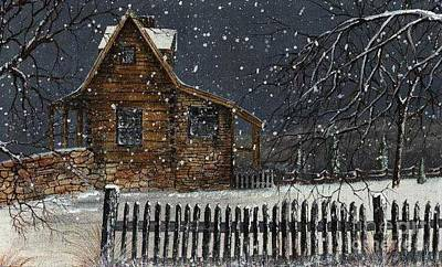 Snowscape Painting - Snowstorm by Randy Edwards