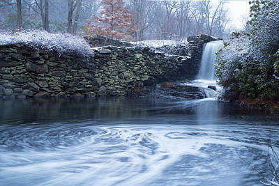 Photograph - Snowstorm Waterfall by Brian Hale