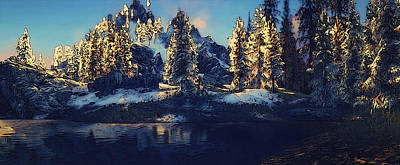 Painting - Snowy Paradise by Andrea Mazzocchetti