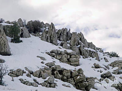 Holy Land Photograph - Snowy Ancient Landscape by Arik Baltinester