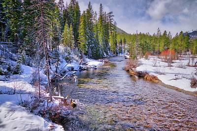 Photograph - Snowy Banks Along Tumalo Creek by Lynn Bauer